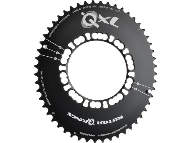 Rotor QXL-Ring Road Aero Chainring 110mm 5-Arm outside black